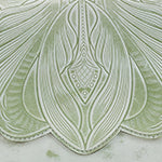 Santillana Flap - White Waxed Tooled - Mint Green - Swatch