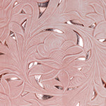 Santillana Flap - White Waxed Tooled - Pink - Swatch