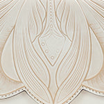 Santillana Flap - White Waxed Tooled - White - Swatch