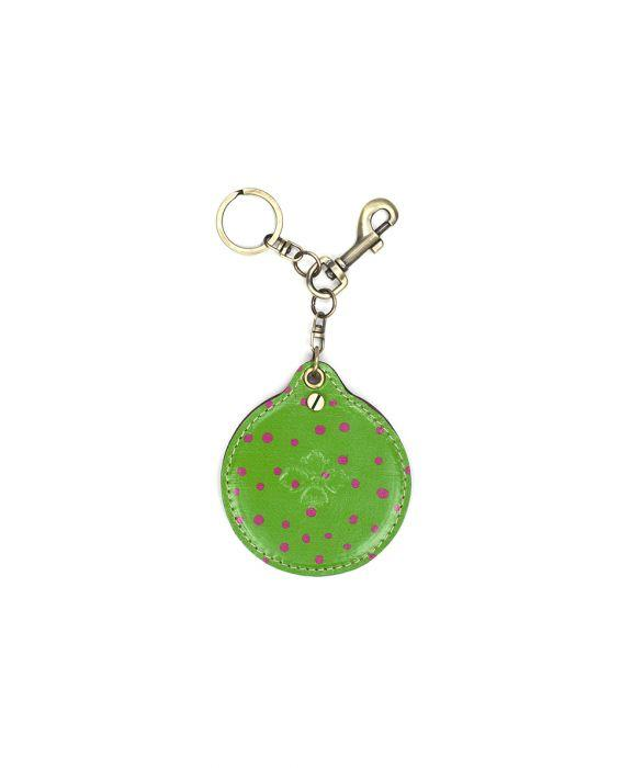 Liscia Twist Mirror Fob - Polka Dot Green 1