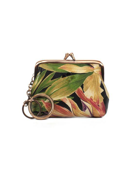 Borse Coin Purse - Cuban Tropical Black