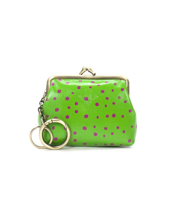 Borse Coin Purse - Polka Dot Green