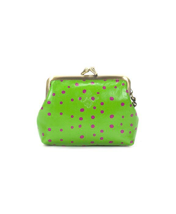 Borse Coin Purse - Polka Dot Green 2