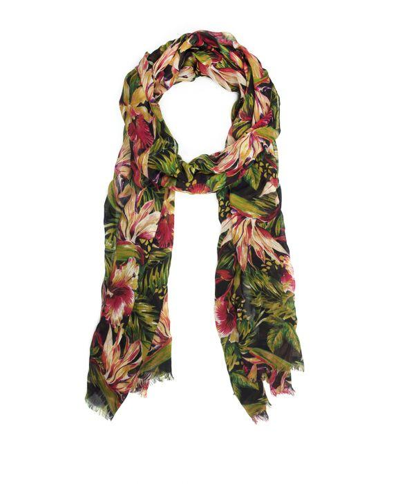 Scarf - Cuban Tropical Black