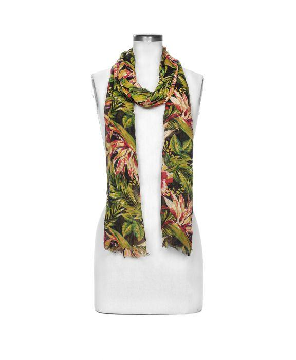 Scarf - Cuban Tropical Black 3