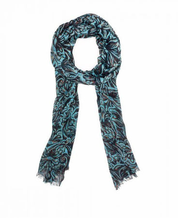 Scarf - Tooled Turquoise