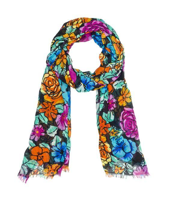 Scarf - Spanish Villa Black