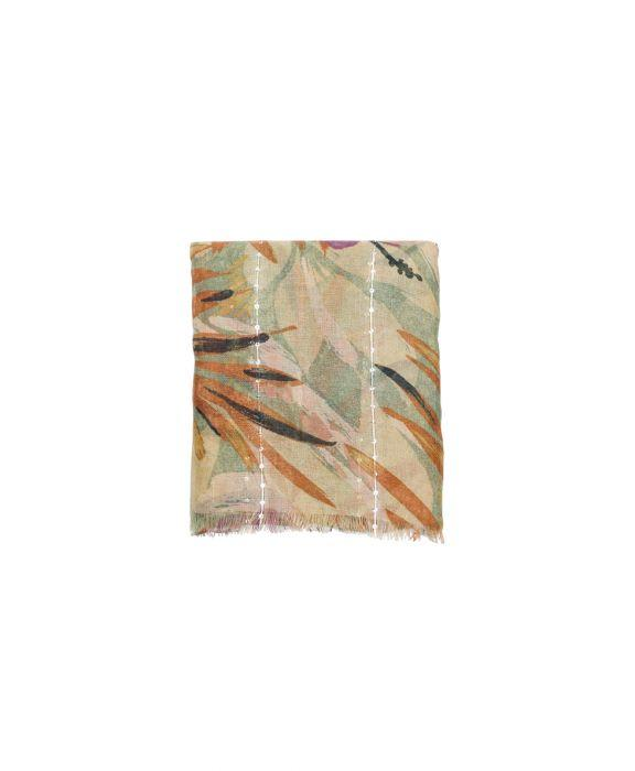 Sequin Scarf - Palm Leaves 2