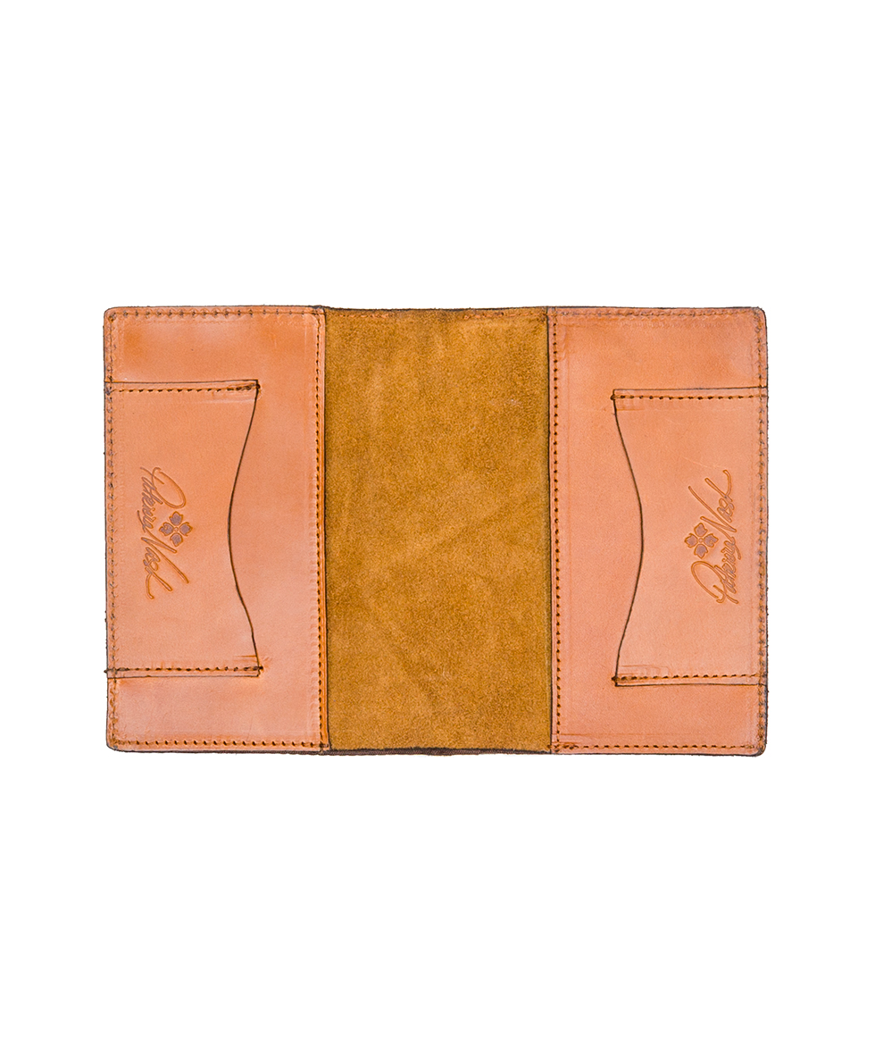 Peretola Passport Sleeve - Floral Deboss - Gold