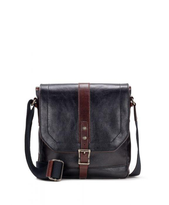North/South Crossbody - Heritage II Black/Rust 1