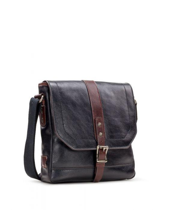 North/South Crossbody - Heritage II Black/Rust 3