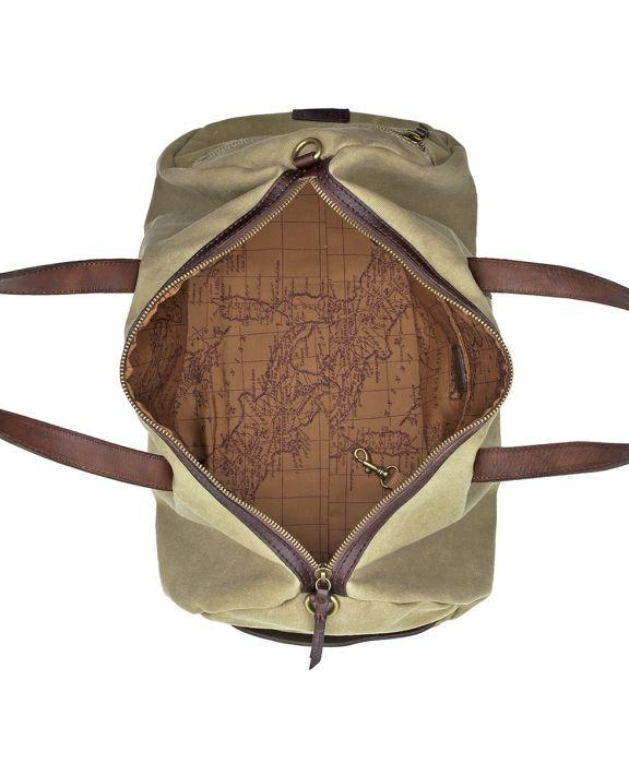 Roma Canvas Gym Duffel - Canvas Khaki
