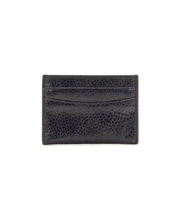 Firenze Leather Slim Card Case - Black