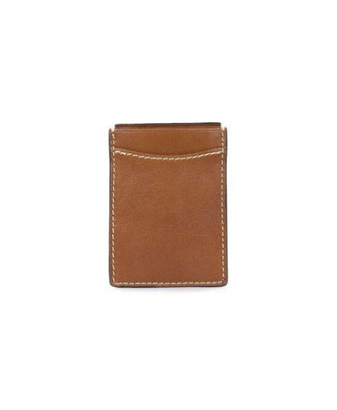 Money Clip Card Case - Heritage - Tan