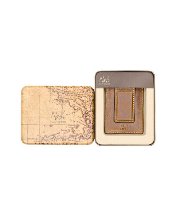 Corsica - Magnetic Money Clip card Case Cognac 4