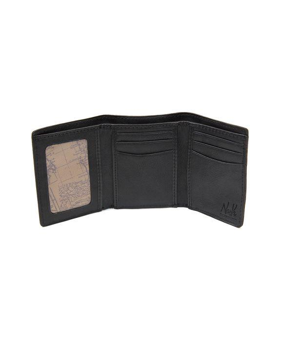 Trifold ID Wallet - Tuscan - Black