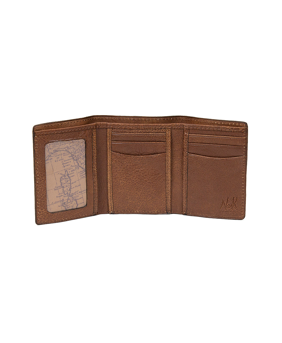 Trifold ID Wallet - Tuscan - Rust