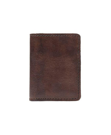 Roma Gusseted Card Case - Rust