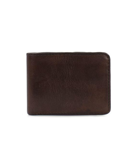 Roma Double Billfold - Rust