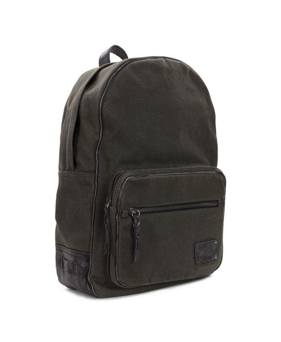 Roma Backpack - Canvas Olive - Canvas Olive (M)