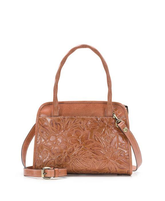 Paris Small Satchel - Floral Tooling Dusty Rose