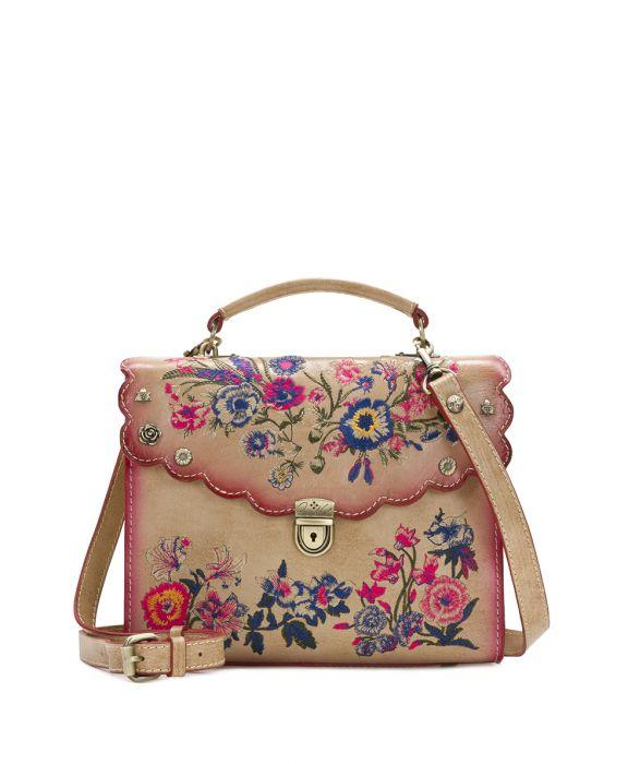 Simona Satchel- Prairie Rose Embroidery