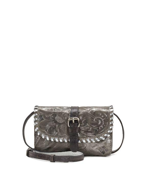 Torri Crossbody - Metallic Pewter 1