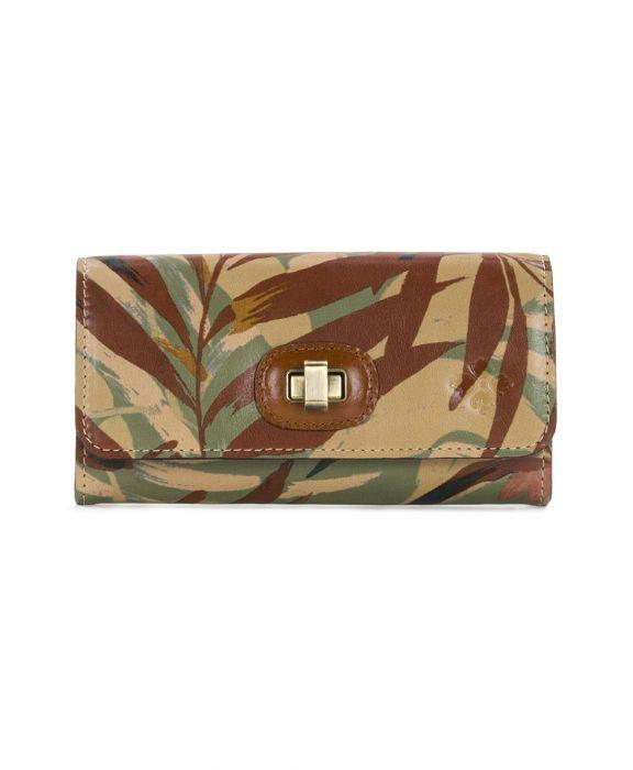 Maria Twist Lock Wallet - Palm Leaves
