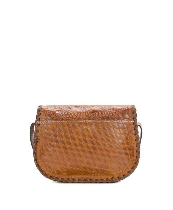 Nardini Saddle Bag - Burnished Tooled - Gold