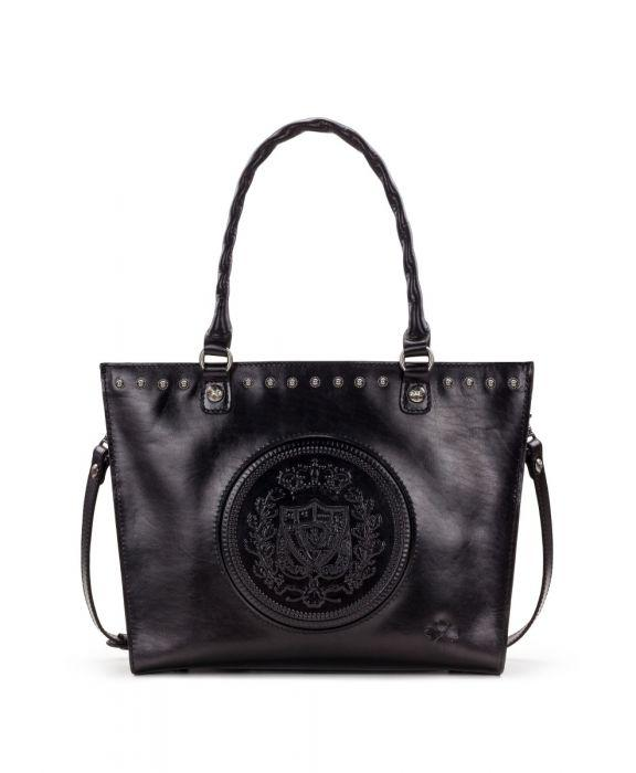 Zancona Tote - Embossed Shield Black - Generic Black