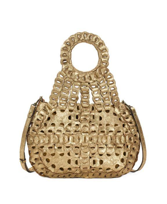 Ticci Satchel - Chainlink Metallic