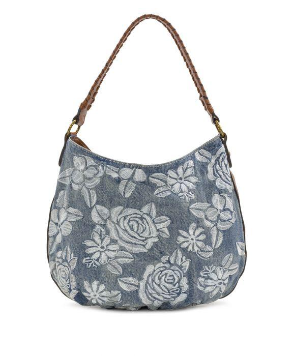Bello Hobo - Spanish Villa Embroidered Washed Denim 1