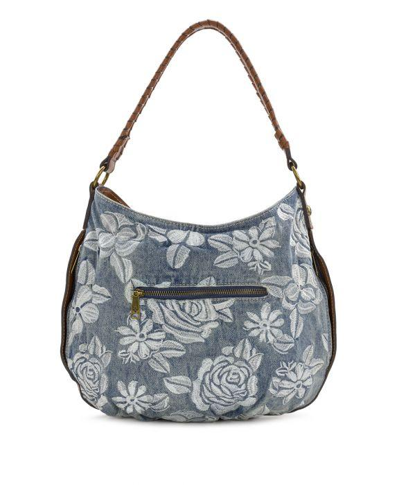 Bello Hobo - Spanish Villa Embroidered Washed Denim 2