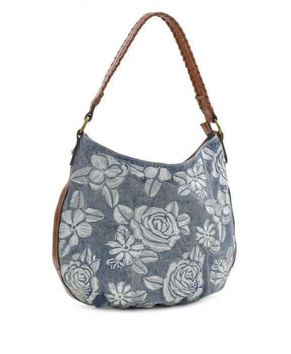 Bello Hobo - Spanish Villa Embroidered Washed Denim 3