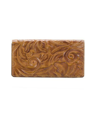 Floriana Clutch Wallet - Burnished Tooled - Gold