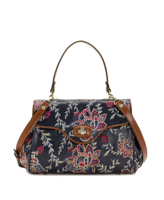 Verga Satchel- Provencal Embroidery Navy