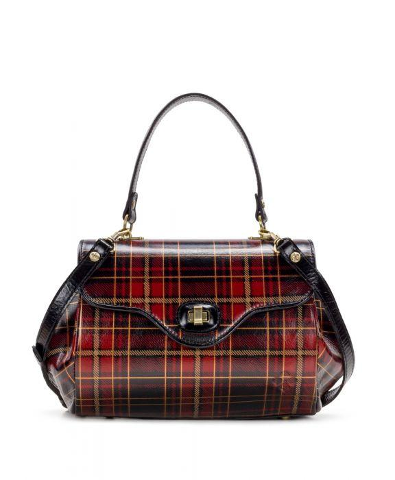 Verga Satchel- Tartan Plaid