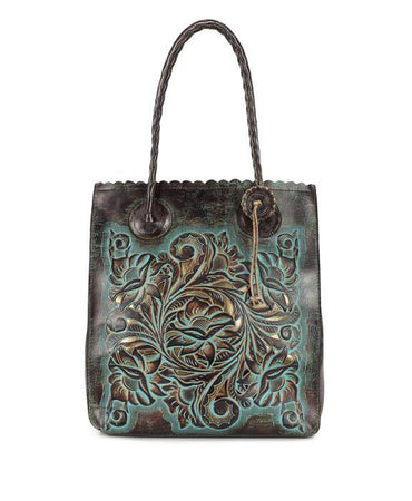 Cavo Tote - Tooled Turquoise - Tooled Turquoise