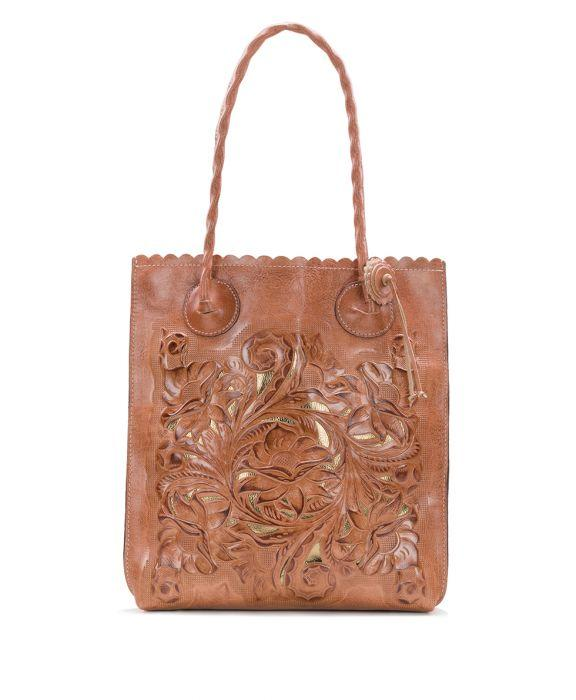 Cavo Tote - Spring Floral Tooling - Dusty Rose