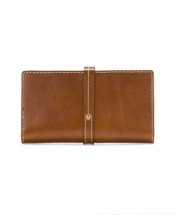 Nevola Checkbook Case - Heritage - Tan