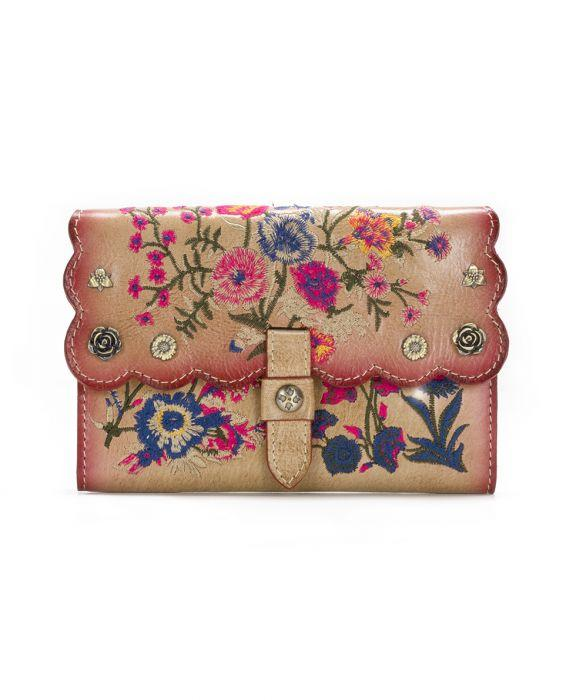 Colli Flap Wallet - Prairie Rose Embroidery