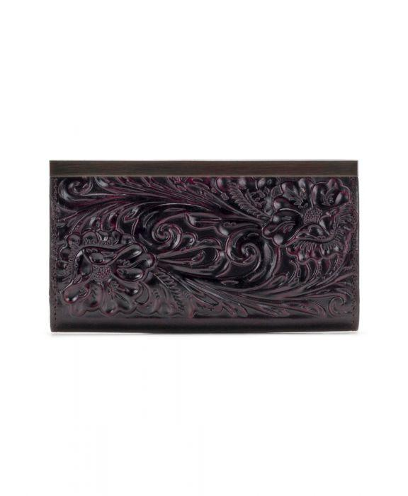 Cauchy Wallet - Burnished Tooled - Plum