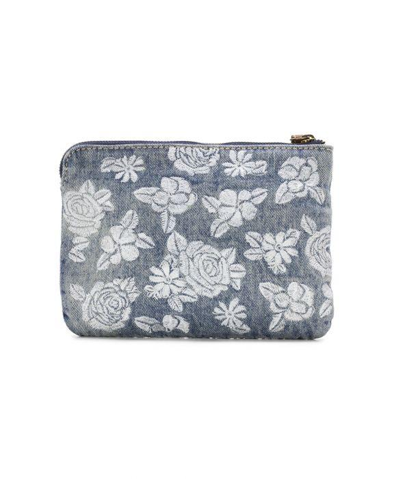Cassini Wristlet - Spanish Villa Embroidered Washed Denim 2