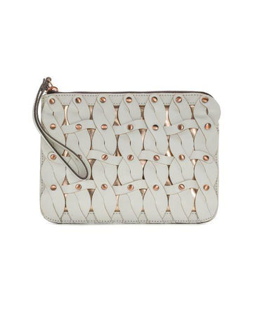 Cassini Wristlet - Twisted Braid - White