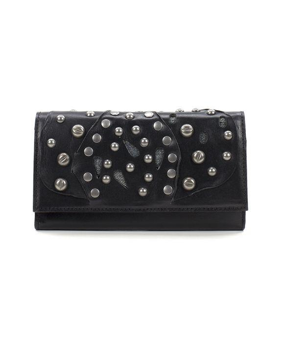Terresa Wallet Studded Link - Black