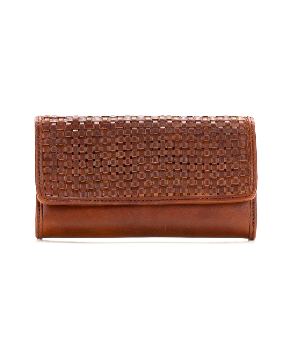 Terresa Wallet - Woven Leather Rust