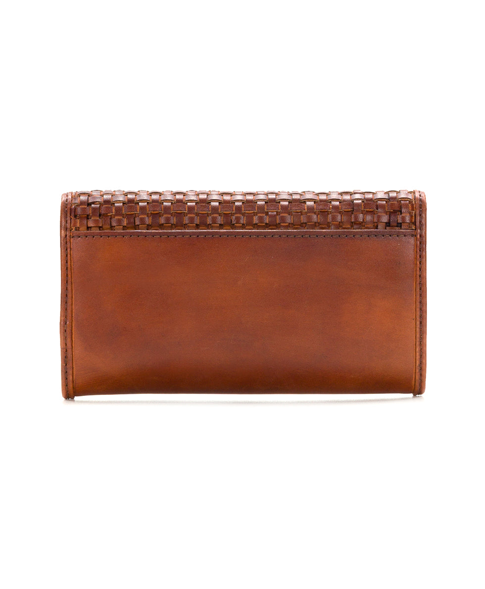 Terresa Wallet - Woven Leather Rust 2