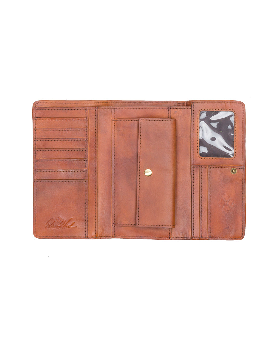 Terresa Wallet - Woven Leather Rust 3
