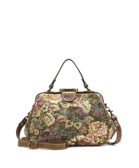 Gracchi Satchel - Verdura Rose Tapestry - Gracchi Satchel - Verdura Rose Tapestry