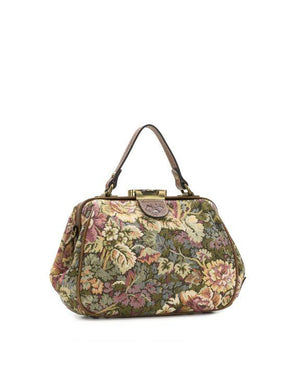 Gracchi Satchel - Verdura Rose Tapestry